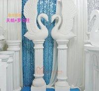 Cheap Swan wedding background Best swan road led decoration
