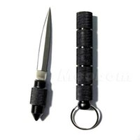 knives free shipping - New Hot Sales Black Steel Key Chain Blade Knife Tactical Dagger Self Defense VC312