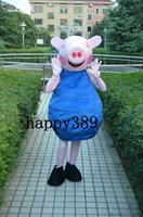Wholesale New Blue pig Mascot Costume Suit Adult Size Fancy Dress Party Factory Direct High quality low price
