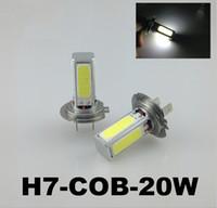Cheap Super High Power H7 H4 20W COB LED Car Daytime Running Light DRL White LED Auto Car Bulb Fog Lamps Driving Light