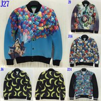 balloon animations - Fall Autumn and winter fashion Personality D Cartoon Animation ducks bananas balloon patterned printing men s jackets size S XL NJ7