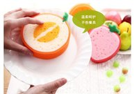 Wholesale SMILE MARKET Tempting Fruits Thickening Sponges Scouring pad Washing cloth