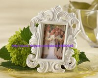 baroque wall frames - 50pcs Black Or White Color Ornate Baroque Style Photo Picture Frame Wedding Party Table Wall Card Holder Gift
