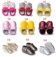 Unisex baby pre walkers - Baby First Walker Shoes moccs Baby moccasins soft sole moccs leather camo leopard Zebra pre walker booties toddlers baby tassel PU shoes