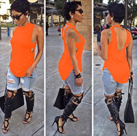 Wholesale black womens tops fashion summer style womens shirt tops sexy open back long t shirt women tops tee VD8077