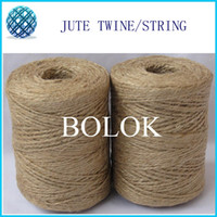 Wholesale Natural jute twine ply twisted Dia mm yards spool jute string
