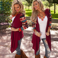 aztec sweaters for women - 2015 New Aztec Long Sleeve Women Cardigan Coat Asymmetrical Knitted Sweater Casual Cardigans Sweaters Air conditioning Shirts For Women