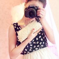 Wholesale Ivory Wedding Handbag Clutch Beading Party Bags Bridal Accessories Evening Bags Imitation Pearls Party Handbag Dinner Clutch