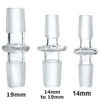 adapters converters - 14mm or mm Straight Male to Male Glass Adapter glass Converter male joint glass dome adaptor mm mm