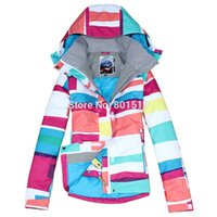 beauty womens jackets - new womens colorized plaid waterproof snowboard jackets beauty winter warm ski jacket