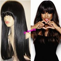 Cheap Celebrity Human HAIR Straight Lace Wig Best The wig