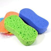 Wholesale The car washing supplies with a sponge compressed sponge sponge tool words high foam cleaning cotton
