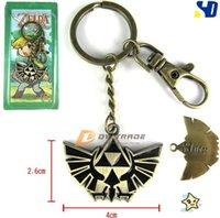 Wholesale 2015 new The Legend of Zelda Metal Keychain Pendant zelda mark necklace metal key chain J010706 DHL