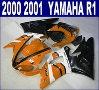 abs plstic - Plstic fairings set for YAMAHA YZF R1 fairing kit YZF1000 white orange black motorcycle parts RQ81 gifts