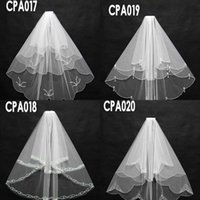 beaded socks - New Arrival Top Selling Cheap In Sock CPA017 Bridal Wedding Veils Beading Sequins Short Three Lay er Bridal Wedding Accessories Net Veils