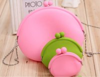 Wholesale New Colourful Silicone Coin Purse Lovely Coin Bag Silicone Money Bag Pouch Puse Style Coin Wallet case