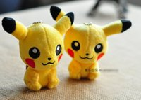 Wholesale new Poke plush toy Pikachu Plush Keychain Pendant Phone Strap soft Stuffed Dolls with tag cm