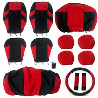 bench seat cover black - Interior Accessories Seat Covers T20648a Pieces Set Car Seat Covers Universal Front Seat amp Bench Seat Black and
