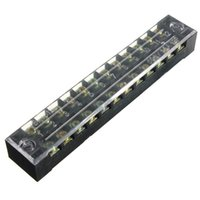 Wholesale High Quality Best Price New V A Dual Row Positions Screw Terminal Safety Covered Electric Barrier Strip Block