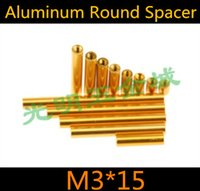 Wholesale 10pcs high quality m3 series gloden colour aluminum standoff spacer for RC mold Length