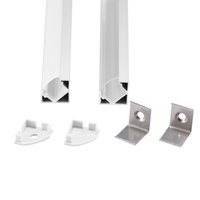 anodized aluminum shapes - m a m per piece Anodized aluminum profile for led strip light triangle shape
