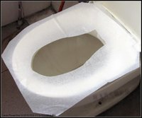 Wholesale 250Pcs Disposable Paper Toilet Seat Covers Camping Festival Travel Loo hotel dedicated