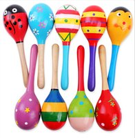 Wholesale A variety of Pattern small wooden hammer early infant color sand Orff vocal musical toys Percussion