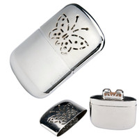 Wholesale High Quality Small Ultralight Handy Pocket Hand Warmer Platinum Portable Warmer With Oil Cup and Bag
