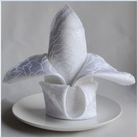 Wholesale 200pcs Top Quality Factory Direct Sale White Polyester Napkin x45cm For Wedding Event Party Decoration