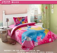 Wholesale new cotton cartoon three piece cotton bedding set of three boys and Girls Princess quilt three sets YP