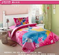 2T-3T Girl Spring / Autumn wholesale 2015 new cotton cartoon three piece cotton bedding set of three boys and Girls Princess quilt three sets YP-001