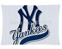 beds ny - Custom NY yankees Best Nice Home Decor Bed Fanshion Stylish Setting Rectangle Pillow Covers Cases cmx60cm one Side U6571