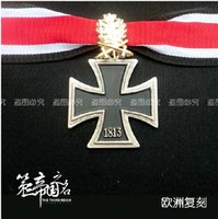 metal badges military - ww2 wwii German military iron cross medal badge with WH OAK LEAF SWORDS