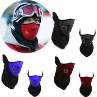 Wholesale New Thermal Neck warmers Fleece Balaclavas CS Hat Headgear Winter Skiing Ear Windproof Warm Face Mask Motorcycle Bicycle Scarf