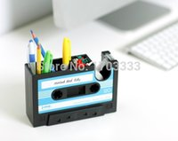 Wholesale Rewind Desk Tidy Retro Cassette Tape Dispenser New Design pen container DHL Fedex