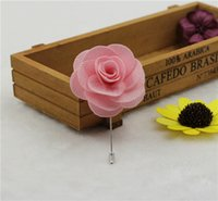 asian tuxedo - Han Edition Trendy Pure Hand Made Cloth Art Rose Accessories Flower Flower Brooch Brooch Brooches Man Suit Lapel Suit Tuxedo Wedding