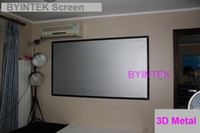 Wholesale high quality high gain high contrast inch D silver metal fabric Projection Screen with black border