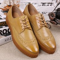baroque shoes - Hot fashion platform shoes male vintage carved men s brock the trend of the baroque pointed toe leather shoes free