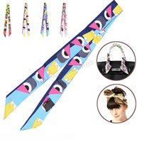 long silk scarf - Smallwholesales Colors New Design Fashion Art Printed cm Long Twilly Real Silk Scarf Tied Handbag Silk Scarves