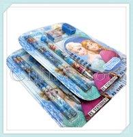 Wholesale School sets Frozen stationery Stationery Set Frozen Romance notepad pencil in stationery sets Via DHL