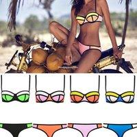 bikinis - 2015 new arrival women fashion sexy triangle bikini swimwear Beachwear neoprene swimwear bikinis triangl