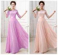 Wholesale S XXL pink vestidos de chiffon bridesmaids bridemaid long dress eggplant purple bridesmaid burgundy brides maid dresses under W689