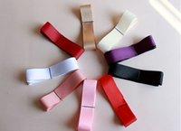 Wholesale New contracted waist decoration pure colors satin ribbons bride wedding dress diy long bow waist belt color