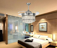 Wholesale 2015 New Crystal Chandelisers led lighting Fans Invisible Ceiling Fans led bulbs led Pendant lights Ceiling Lights Ceiling Fans LED lights