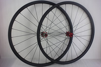 Wholesale 27 er Mountain bike carbon wheelset mm hookless mm depth straight pull front M15 thru rear mm X12 SUPER LIGHT MTB XC carbon wheels
