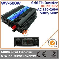 solar inverter - 600W VDC VAC Grid Tie Micro Inverter for W Small Solar or Wind Power System Used at Home