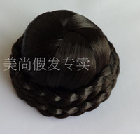 Wholesale Top Quality bridal chignon Synthetic chignon for wedding amazing woman hair pieces EMS