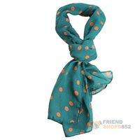 Wholesale Stylish Women Chiffon Polka Dot Scarf Lady Shawl Wrap Muffler Mixed Color NVIE order lt no track