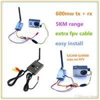 Wholesale 5KM RC FPV Ghz mW Channels Wireless A V transmitter receiver TS832 RC832 FPV System RP SMA For Quadcopter