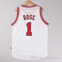chicago bull - Bulls Chicago Derrick Rose Jersey Shirts Home Jersey Chicago White Embroidery Basketball Jerseys Top Quality